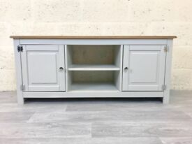 NEW IN - Grey Painted Pine TV Unit