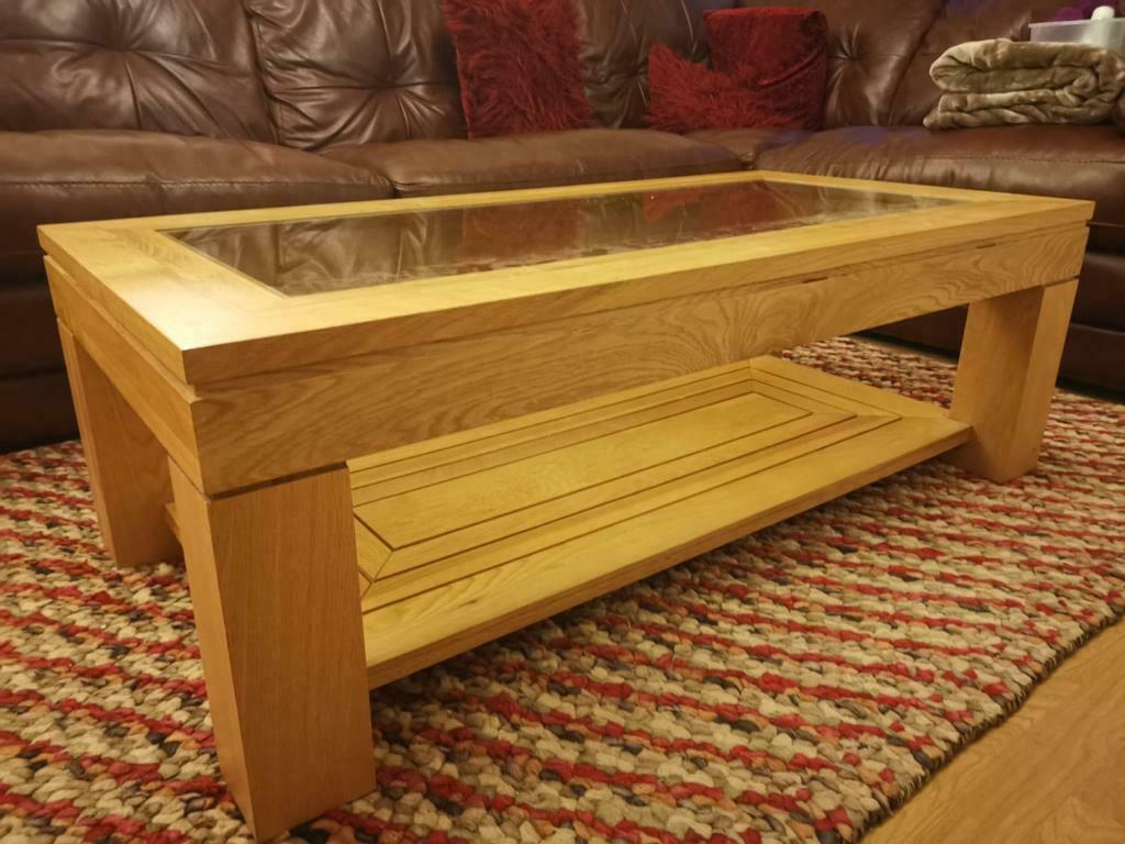 Solid Oak Large Coffee Table Furniture Village In Milton Keynes Buckinghamshire Gumtree