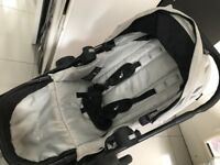 Tandem stroller, City Select with car seat and toddler board