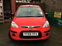 2010 (59 reg) HYUNDAI i10 1.2 CLASSIC, 44,000 MILES, 2 FORMER KEEPERS, MOT TILL JAN 2019, VERY CLEAN
