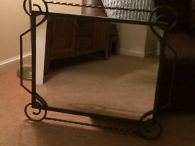 Lovely mirror, 33 x 31in, ex condition.