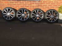"Set of Genuine 18"" AMG Mercedes Benz Multi Spoke Wheels and Tyre A1 Condition"