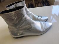 Zara fashion silver boots