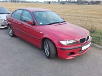 BMW 316i E46 Imola Red M sport BREAKING for Spares Partas Saloon Manual N42b18