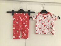 🐻 Minnie Mouse Top and Leggings Size 6/9 Months 🐻
