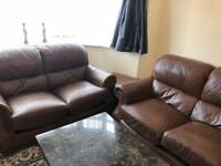 Comfortable and Large 2 Chair + 3 Chair Sofa + Extra Stool Chair, Very Good Condition