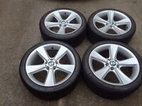 BMW 19 genuine style 128 alloys with tyres