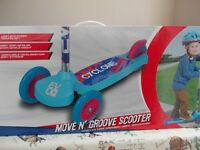 Boys Evo Move and Groove scooter Blue/Red