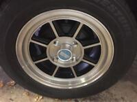 Hayashi streets alloy wheels ra28 Celica ,Toyota,datsun,Mazda,Mitsubishi .