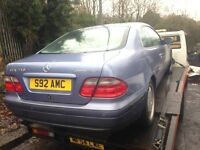 1998 Mercedes CLK Coupe 230K Elegance Auto blue 2.3 BREAKING FOR SPARES