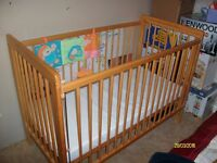 Baby Cot. with Mattress, hardly used at Grandparents house.