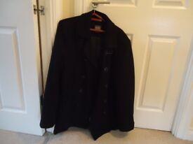 Jeff Banks Black Winter Coat / Jacket Size Large