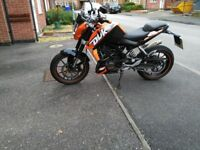 KTM Duke 125 Low Mileage Well Cared For Bike