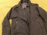 Girls 8-10yr H&M Short Grey casual jacket, good condition from pet and smoke free home
