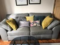 Grey leather next sofa