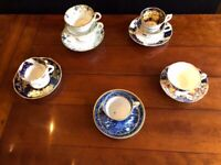 Set of Assorted Antique Tea Cups