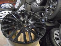 22inch khan alloy single wheel spare range rover x5 5x120