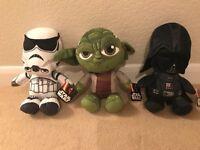 "x3 Genuine Disney Star Wars 12"" Plush/Soft Toys."