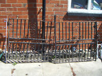 pair of wrought iron gates with hinges garden drive etc