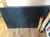 Slate 30mm thick. 600 x 900 size. Black. Great for fireplace.