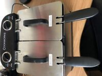 Cookworks Twin Professional Fryer - Stainless Steel - never used