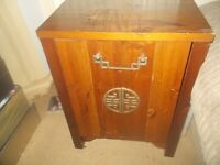 """NICE 2 DRAW BEDSIDE CABINET * CUPBOARD * TABLE * STORAGE * 18"""" WIDE + 24"""" TALL ** CLACTON CO15 6AJ"""