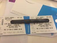 2 x Drake Sheffield Standing tickets 17th Febuary