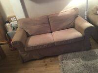 2 x two piece sofa, 1 arm chair (IKEA ECTORP)