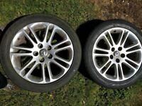 2 Vauxhall Insignia alloy wheels