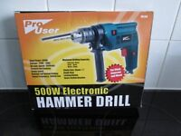 Brand New Pro user 13mm Electronic Hammer Drill. Cash On Collection.