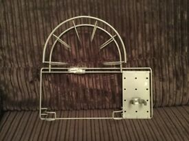 Metal Rack For Vacuum Cleaner Hose and Pipe Storage