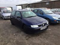 Seat Ibiza vw engine very nice sporty hatchback mot good driver unmarked interior any trial px welc