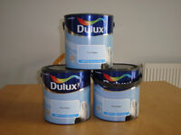 3 Tins of Dulux 'First Dawn' Blue Matt Emulsion