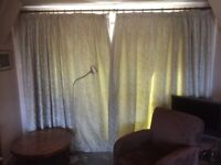 Good quality curtains (220cm drop, fitting a 292cm wide window) with pole