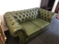 Two seater top quality green chesterfield sofa