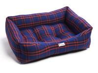 Brand New - Black Royal Tartan Luxury Sofa Pet Dog Bed (Medium)