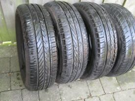 4 Car Tyres 175/65/14 (Two virtually new)