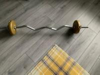EZ Barbell with plates