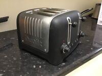 Dualit 4 slice black toaster