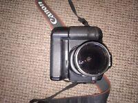 Canon 40D DSLR camera, Canon 420EX flash, remote flash sync and remote shutter release.