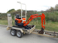 Kubota U10-3 digger 1T with or without Trailer