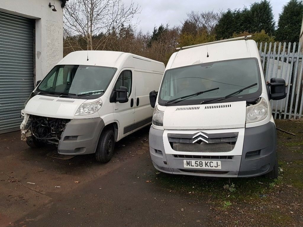 ab1dd5249e6503 PROJECT SPARES OR REPAIRS X2 CITROEN RELAY HDI VANS 2009 2008 PACKAGE DEAL