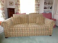 3 seater sofa and matching chair - comfortable and in good condition.