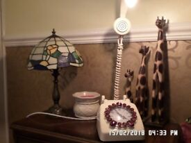 upcycled telephone table lamp