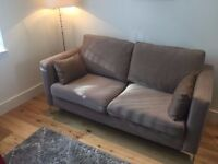 New Modern Two Seater Beige Sofa
