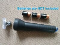 Eveready Rubber 3 cell torch (takes 3 D size batteries)