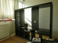 IKEA LAPPLAND TV storage unit, black-brown183x147 cm