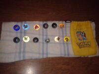 Pokemon Collectible Marbles x 12 + 1 Bag