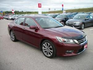 2013 Honda Accord Sport Sedan CVT/NEW 18 INCH GOODYEAR TIRES!!! Kawartha Lakes Peterborough Area image 3