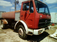 Left hand drive Mercedes Benz 1613 7000 litres WATER tanker. Hub reduction.
